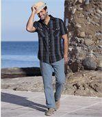 Modré strečové džínsy preview2