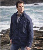 Men's Navy Multi-Pocket Safari Jacket