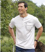 Zestaw 3 t-shirtów z dekoltem zapinanym na guziki preview4