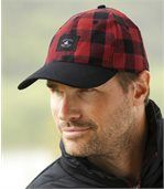 Men's Red and Black Check Montreal Flannel Cap