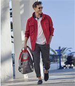 Men's Red Multi-Pocket Windbreaker preview2