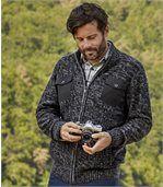 Men's Black Winter Valley Knitted Jacket