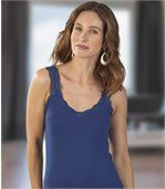 Pack of 2 Women's Vest Tops - Lace Straps preview3