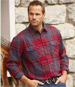 Flanelová košile s šedou a červenou kostkou preview1