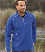 Pack of 2 Men's Microfleece Sports Jumpers - Grey Blue  preview2