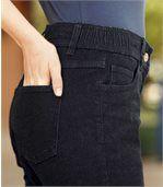 Women's Dark Blue Stretch 7/8 Jeans