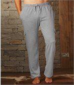 Men's Grey Brushed Fleece Joggers preview2