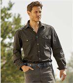Men's Black Printed Poplin Shirt preview1