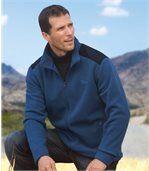 Men's Blue Zip-Up Jacket - Fleece preview1