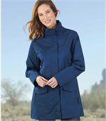 Women's Blue Water-Repellent Coat preview1