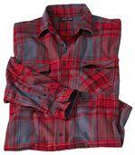 Flanelová košile s šedou a červenou kostkou preview2