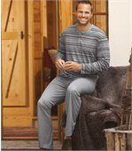 Pruhované bavlnené pyžamo preview1