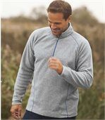 Pack of 2 Men's Microfleece Sports Jumpers - Grey Blue