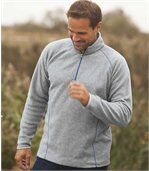 Pack of 2 Men's Microfleece Sports Jumpers - Grey Blue  preview3