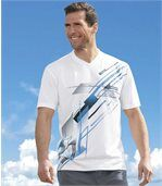 Pack of 3 Men's Sports T-Shirts - White Black Blue preview2