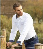 Men's White Poplin Shirt preview2