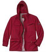 Men's Red Multi-Pocket Windbreaker preview3