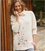 Pullover Herbstblüten im Tunika-Stil preview2