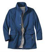 Women's Blue Water-Repellent Coat preview2