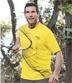 Sada 2 dvoubarevných triček sgrafickými motivy preview2