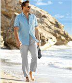 Letné bavlneno-ľanové nohavice