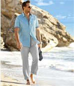Letní kalhoty ze lnu a bavlny preview2