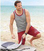 Bermuda de Bain Homme Rose Surf Sport preview2