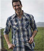 Kockovaná košeľa Western preview3