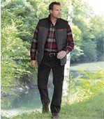 Wygodne welurowe spodnie bojówki ze stretchem preview2