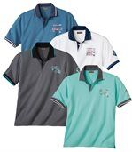 Pack of 4 Men's Polo Shirts