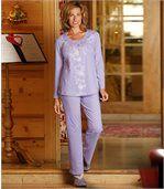 Lila pyjama met fantasiemotieven preview1
