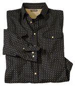 Men's Black Printed Poplin Shirt preview2