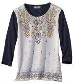 Shirt mit Elasthan im Kaschmir-Look preview2