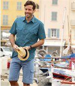 Men's Blue Denim Shorts preview2