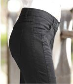 Women's Black 7/8 Stretch Trousers