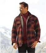 Men's Red Flannel Jacket with Sherpa Lining