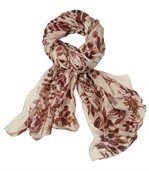 Women's Light Scarf - Autumn Leaf Pattern preview1