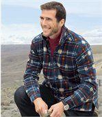 Fleecová svrchní košile zateplená umělým beránkem preview1