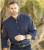 Men's Blue Striped Poplin Shirt preview1
