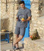 Men's Blue Coast Short Pyjama Set preview2