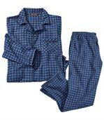 Flanelowa piżama w kratę Vichy preview2