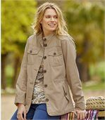 Women's Beige Summer Safari Jacket