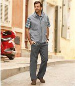 Plátěné volnočasové kalhoty preview2
