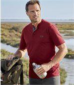 Sada 3 triček Canada Wild sknoflíčkovým zapínáním ukrku
