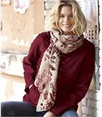 Women's Light Scarf - Autumn Leaf Pattern preview2