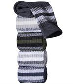 Pack of 5 Pairs of Men's Sports Socks - Beige Grey Khaki Blue Anthracite Grey preview1