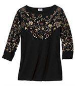 T-shirt met bloemenprint preview2