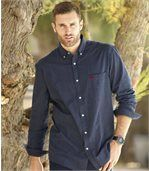 Men's Blue Striped Poplin Shirt preview4