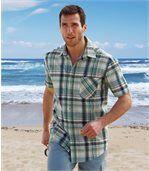 Reliéfna bavlnená košeľa preview1