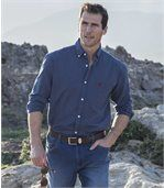 Men's Blue Striped Poplin Shirt preview2